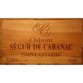 Chateau Segur de Cabanac 1998 (Case of 12 Bottles 75 cl)