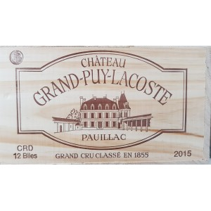 Château Grand Puy Lacoste 2015 (wooden case of 12x75cl)