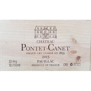 Château Pontet Canet 2015 (wooden case 12x75cl)