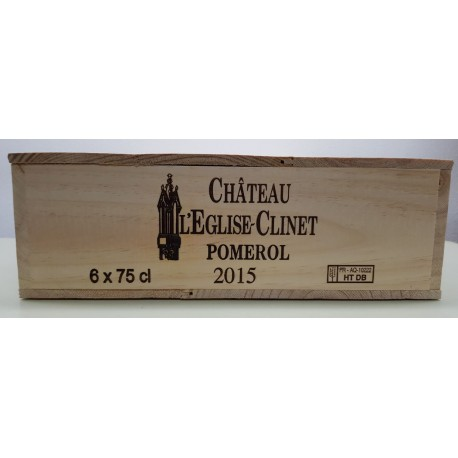 Château Eglise Clinet 2015 (Wooden case 6 x 75 cl)