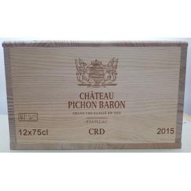 Château Pichon Baron 2015 (Wooden case 12 x75cl)