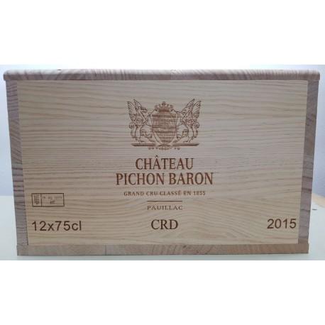 Château Pichon Baron 2015 (Wooden case 6x75cl)