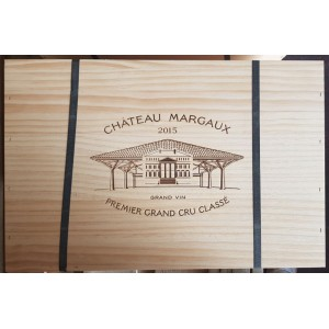Château Margaux 2015 (Wooden case of 12 Bottles of 75 cl)
